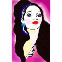 """Obraz malowany ręcznie  """"Madame Rose"""""""