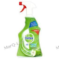 DETTOL 1000ml - Benckiser Dettol Antybakteryjny potrójna siła, spray do mycia powierzchni i dezynfekcji - zapach ZIELONE JABLUSZKO Zdrowie i higiena