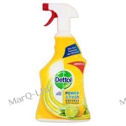 DETTOL 1000ml - Benckiser Dettol Antybakteryjny potrójna siła, spray do mycia powierzchni i dezynfekcji - zapach CYTRYNA Zdrowie i higiena