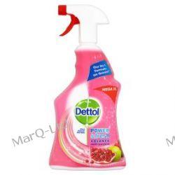 DETTOL 1000ml - Benckiser Dettol Antybakteryjny potrójna siła, spray do mycia powierzchni i dezynfekcji - zapach GRANATU Peeling