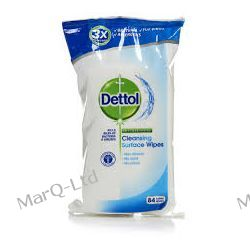 DETTOL Antybakteryjne chusteczki potrójna siła do mycia powierzchni i dezynfekcji - bezzapachowe 84szt. Zdrowie i higiena