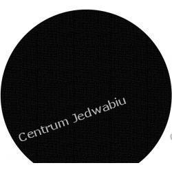 SZYFON MGIEŁKA - głęboka czerń - szer. 114 cm Jedwab naturalny