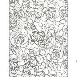 SZYFON KRESZOWANY - czarne róże na bieli