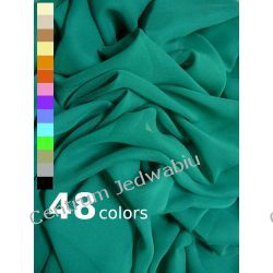 ŻORŻETA delikatna 100% jedwab na bluzki sukienki szale