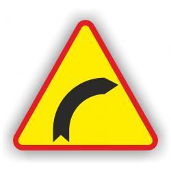 Znak drogowy typu A średni