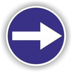 Znak drogowy typu B,C średni