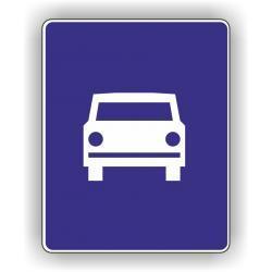 Znak drogowy typu D średni 600x750