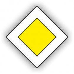 Znak drogowy typu D średni 600x600