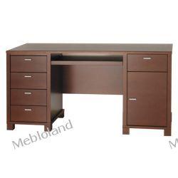 Duże biurko gabinetowe Palermo B106 Buk kolor koniak