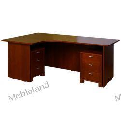 Duże biurko gabinetowe Palermo B83 Buk kolor koniak