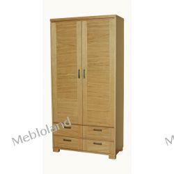szafa ubraniowa dębowa z szufladami MILANO S35