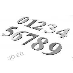 Numer, Numery na Drzwi z aluminium wys. 9 cm