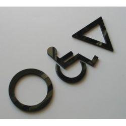 WC, piktogramy, symbole, znaki ubikacji z plexy