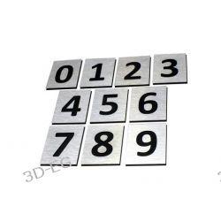 Numer, Numery Grawerowane na Drzwi z aluminium C1 Pozostałe