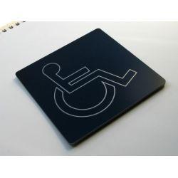 Piktogram, Symb, Drzwi, Toaleta Niepełnosprawni kr Identyfikatory