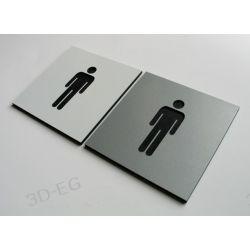 Piktogram Symbol Oznaczenie WC Toaleta Męska 8x8cm