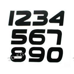 Numer, Numery, Cyfra, Cyfry na drzwi, czarne wys. 7 cm PEP Obrazki i obrazy