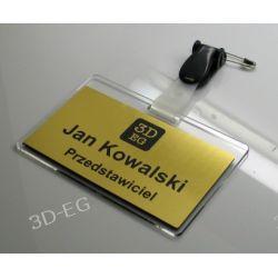 Eleganckie identyfikatory srebro, złoto drapane Akcesoria biurowe