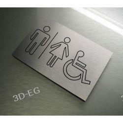 Piktogram Symbol Znak Na Drzwi WC TOALETA WSPÓLNA Tablice i szyldy