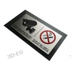 """Tabliczka Ostrzegawcza """"Obiekt Monitorowany i Zakaz Palenia"""" Muzyka i Instrumenty"""