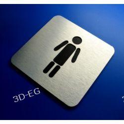 Piktogram, Symbol, Znak WC Męskie 10 x10 cm N