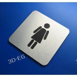 Piktogram, Symbol, Znak WC dla Kobiet10 x10 cm N