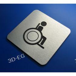Piktogram, Symbol, WC dla Niepełnosprawnych 10x10