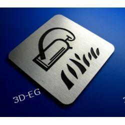 Piktogram, Symbol, Znak, GAŚNICA 10 x10 cm R