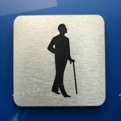 Piktogram Symbol WC dla Mężczyzn DIBOND ALUMIN R