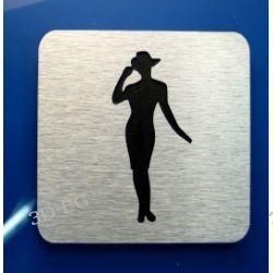 Piktogram Symbol WC dla Kobiet DIBOND ALUMINIUM R