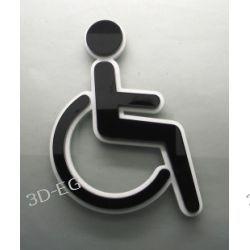 Piktogram, Symbol,WC dla Niepełnosprawnych, pleksi