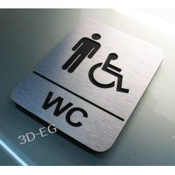 Piktogram Symbol  WC Mężczyźni Niepełnosprawni J Muzyka i Instrumenty