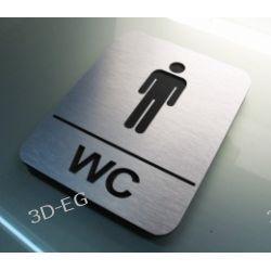 Piktogram, Symbol,  WC  dla Mężczyzn 10x13 cm J