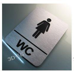 Piktogram, Symbol, Znak WC dla Kobiet 10 x13 cm J Tablice i szyldy