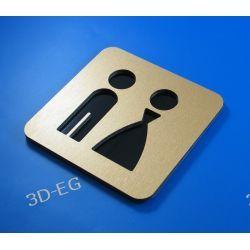 Piktogram, symbol, znak WC, toaleta koedukacyjna Z Obrazki i obrazy