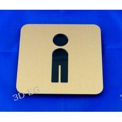 Piktogram, symbol, naklejka, WC, toaleta męska Z Muzyka i Instrumenty