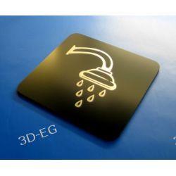 Piktogram, Symbol, Znak Prysznic 10 x10 cm CN Tablice i szyldy