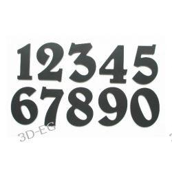 Numer, Numery, Cyfra na drzwi, czarne wys. 7 cm Tablice i szyldy