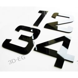 Numer Numery Cyfra na Drzwi z alu czarne 11,5cm BA Muzyka i Instrumenty
