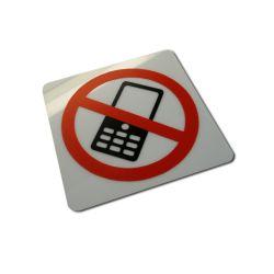 Piktogram, Symbol - Zakaz używania komórek 15x15cm Pozostałe