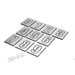 Numer Numery Cyfry Grawerowane na Drzwi aluminium1