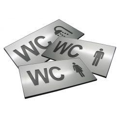 Piktogram Symbol WC na Drzwi DIBOND RÓŻNE 16x8cm