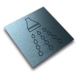 Piktogram, Symbol, Znak - PRYSZNIC 10x10cm Kasetony