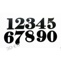 Numer, Numery, Cyfry na Drzwi z alu czarne 6,5 cm Tablice i szyldy