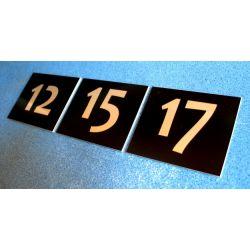 Numer Numery Cyfra Grawer na Drzwi Czarny L-2 Breloki
