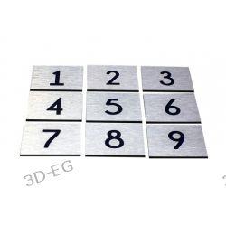 Numer Numery Cyfra Grawer na Drzwi z aluminium K