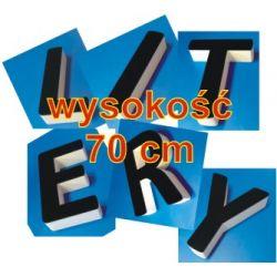 Litery 3D ze Styroduru z licem z pleksi wys. 25cm / 100cm Reklama zewnętrzna