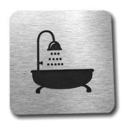 Piktogram, Symbol, Łazienka, DIBOND, ALUMINIUM R