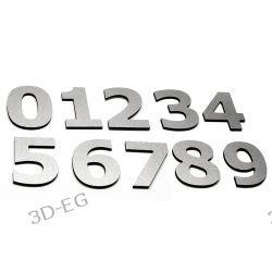 Numer Numery Cyfra na Drzwi, Dom z alu 5cm VERDANA