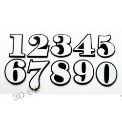 Numer Numery Cyfra Cyfry na Drzwi Biało-Czarne Pozostałe